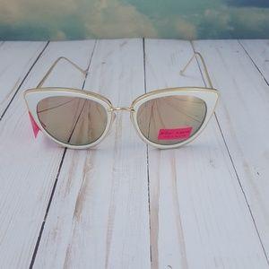 Betsey Johnson Mirrored Cat Eye Sunglasses